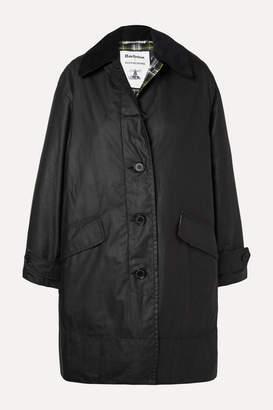 Barbour Alexachung Maisie Corduroy-trimmed Waxed-cotton Jacket - Black