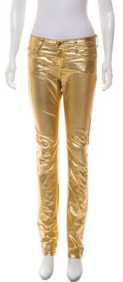 Faith Connexion Mid-Rise Straight-Leg Pants Gold Mid-Rise Straight-Leg Pants