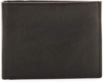 Neiman Marcus RFID Pebbled Leather Bi-Fold Wallet