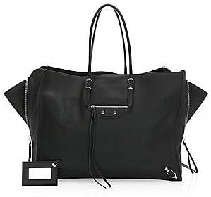Balenciaga Women's Large Papier Zip-Around A4 Leather Tote