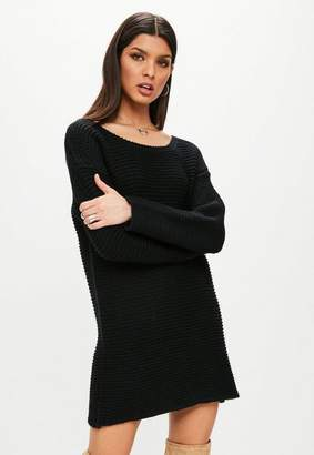 Missguided Black Chunky Oversized Sweater