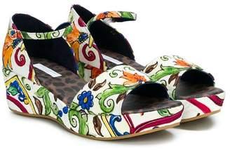 Dolce & Gabbana Sicilian print sandals