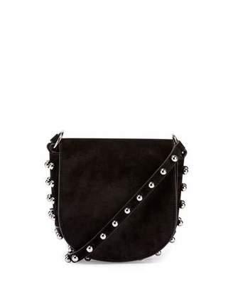 Alexander Wang Lia Mini Leather Saddle Bag, Black $675 thestylecure.com