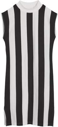 Burberry Striped Cotton Turtleneck Dress