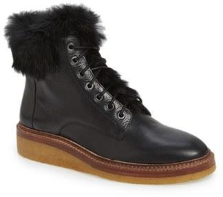 Women's Pour La Victoire 'Jett' Leather & Genuine Rabbit Fur Boot $374.95 thestylecure.com