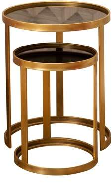 Devon & Claire Auburn Gold Nesting End Tables