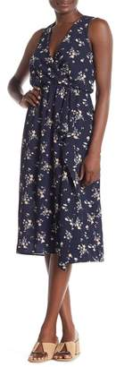 Everly Faux Wrap Floral Midi Dress