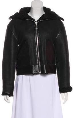 Balenciaga Long Sleeve Leather Jacket