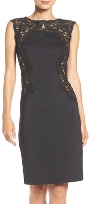 Tadashi Shoji Embroidered Mesh & Neoprene Sheath Dress (Regular & Petite) $348 thestylecure.com
