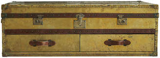 One Kings Lane Vintage English Campaign Coffee Table / Trunk