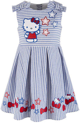 a62561290 Hello Kitty Toddler Girls Printed Seersucker Pleated Dress