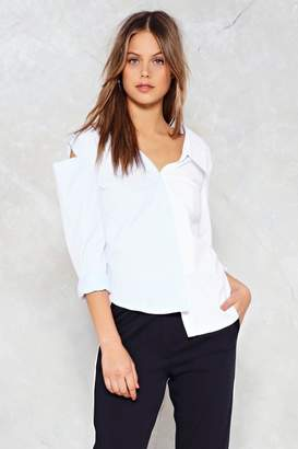 Nasty Gal Gotta Shoulder On Cold Shoulder Shirt