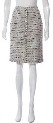 Chanel Lesage Tweed Knee-Length Skirt w/ Tags