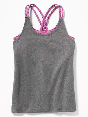 Old Navy Relaxed Go-Dry Cool Strappy 2-in-1 Tank for Girls