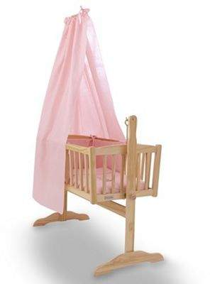 Clair De Lune Cot & Crib Freestanding Drape Set (Pink)