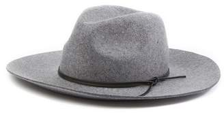 Phenix Wide Brim Wool & Leather Fedora