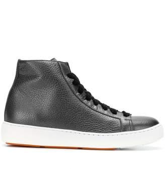 Santoni lace-up hi-top sneakers