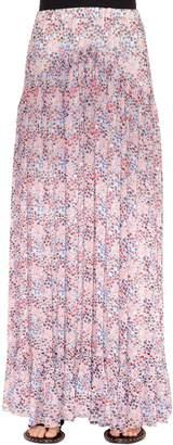 Philosophy di Lorenzo Serafini Floral Print Plisse Georgette Maxi Skirt