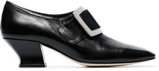 Dorateymur han court 50 leather buckle pumps