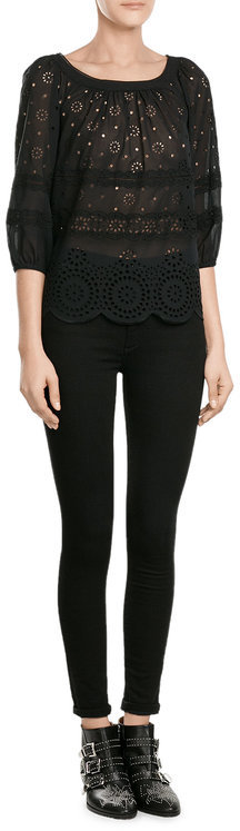 Marc By Marc JacobsMarc by Marc Jacobs Embroidered Cotton Top