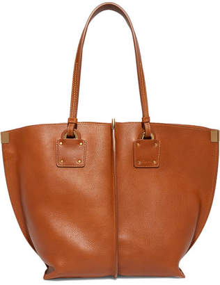 Chloé Vick Textured-leather Tote - Tan