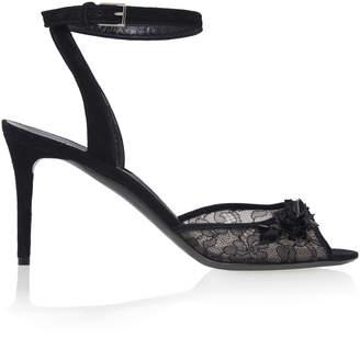 Balenciaga Embellished Lace Sandals