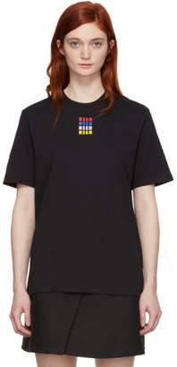MSGM Black Micro Color T-Shirt