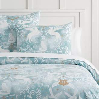 Pottery Barn Teen HARRY POTTER Patronus Damask Duvet Cover, Mystic Mint, King, Mystic Mint