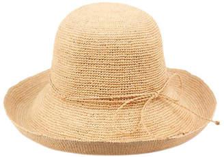 Cloche Angela & William Raffia Roll Up Brim Sun Hat