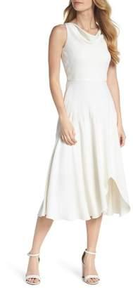 Gal Meets Glam Juliet Cowl Neck Crepe Dress