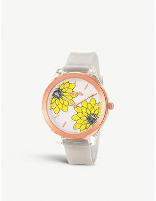 Folli Follie Fleur Riviera rose gold-plated watch