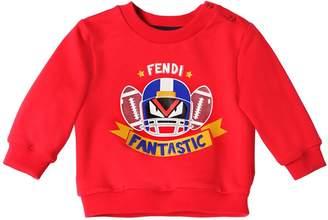 Fendi Football Printed Cotton Sweatshirt