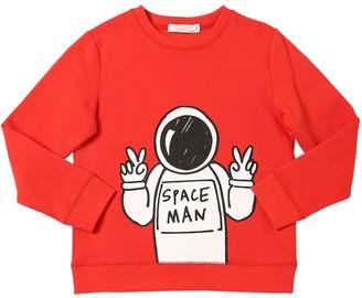 Stella McCartney Space Man Print Cotton Sweatshirt