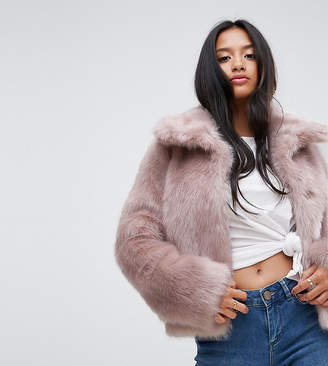 Asos Chubby Vintage Coat in Faux Fur