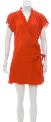 Balenciaga Surplice Silk Dress