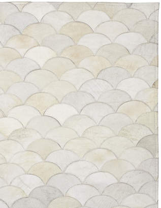 Serena & Lily Scalloped Hide Rug