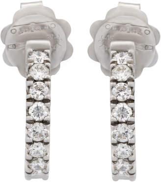 Chimento 18k White Gold Diamond Hoop Earrings
