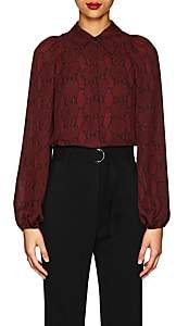 A.L.C. Women's Lori Snake-Print Silk Blouse - Red