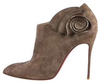 Christian Louboutin Rosette Suede Boots
