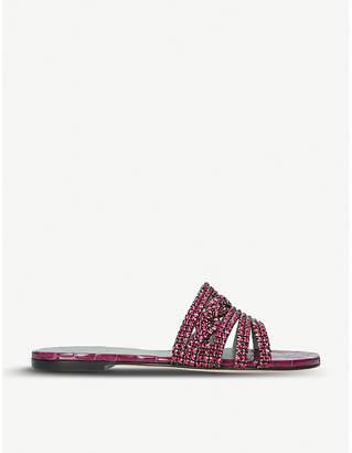 Gina Loren embellished leather sandals