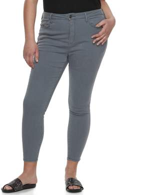 So Juniors' Plus Size SO High-Rise Ankle Jeggings