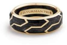 David Yurman 18K Yellow Gold Band Ring