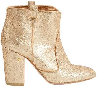 Laurence Dacade Gold Glitter Boots