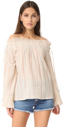 Love Sam Smocked Blouse $145 thestylecure.com