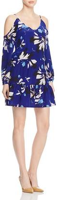 Yumi Kim Cold Shoulder Floral Silk Dress $229 thestylecure.com