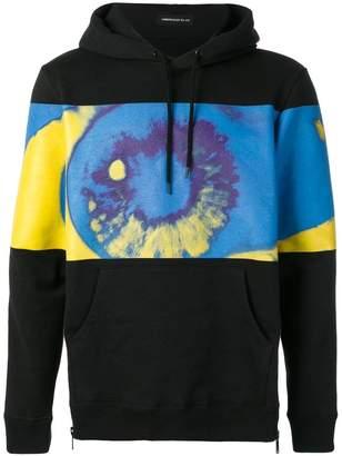 Undercover tie-dye contrast hoodie