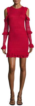 Ronny Kobo Knit Ruffle Dress