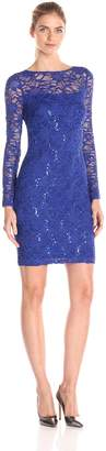 JS Collections Women's Long Sleeve Lace Dress
