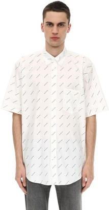 Balenciaga Logo Printed Short Sleeve Shirt