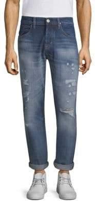 Hudson Blake Slim-Fit Straight-Leg Jeans